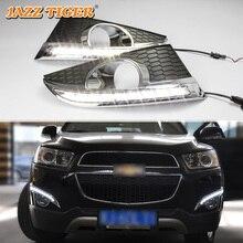 JAZZ TIGER Автоматическая затемнения Функция водостойкий ABS 12 В автомобиль DRL светодиодный светодиодные дневные бег свет для Chevrolet Captiva 2011 2012 2013