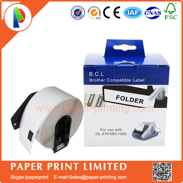 10 Rolls Compatible DK-11208 Label 38mm*90mm Compatible for Brother Label Printer All Come With Plastic Holder 400Pcs/Roll