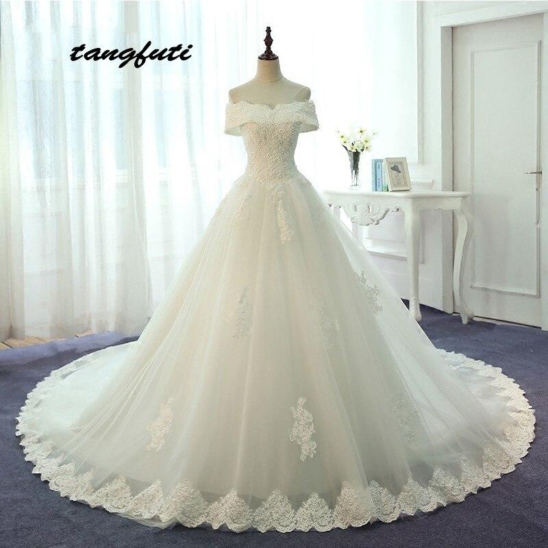 Dentelle Robes De Mariée Longue 2018 Une Ligne Perles Off Épaule Country Western Weddingdress Chine Robes De Mariée Désherbage Robe LM580
