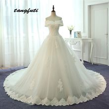 Lace Wedding Dresses Long 2018 A Line Pearls Off Shoulder Country Western Weddingdress China Bridal Gowns Weeding Dress Lm580