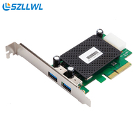 Dual port USB3.1 expansion card PCI-e to USB3.1 interface for Desktop PCI Express USB adapters slot cards