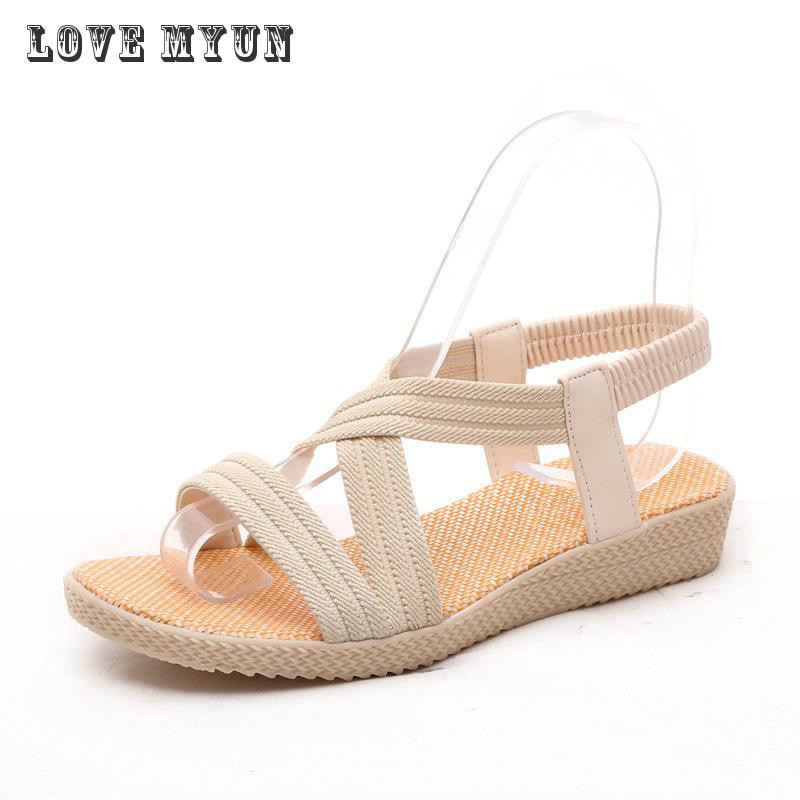Bohemia Fashion Women Sandals shoes woman Flat 2017 Summer Ankle strap Ladies Shoes Hot Sandalias Mujer