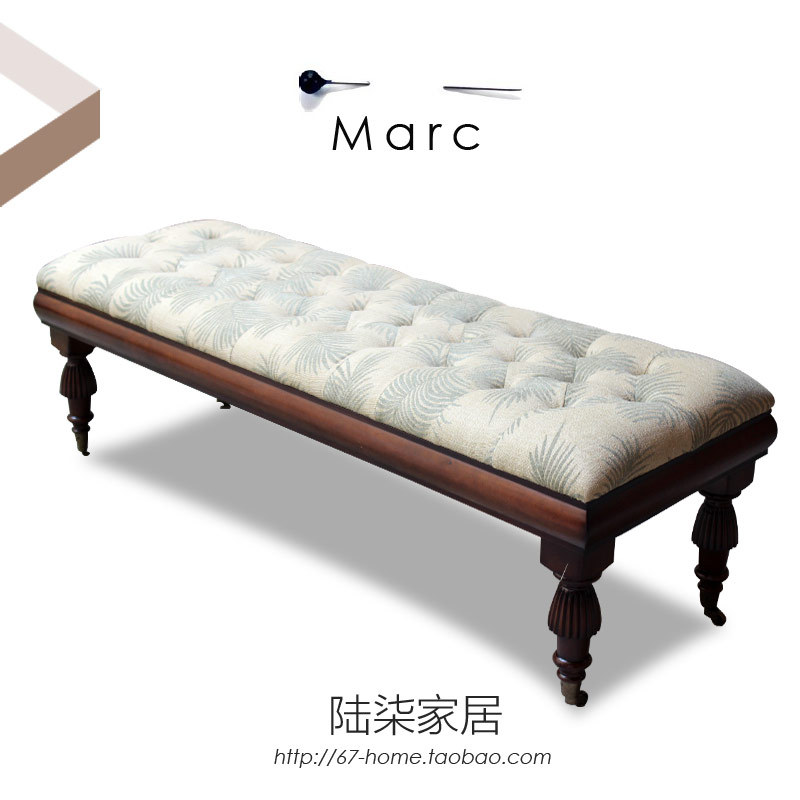 Charmant 67home Sofa Bed End Bench Stool American Country European High End Custom  Furniture Wood Soft Cloth Bag In Hotel Bedroom Sets From Furniture On ...