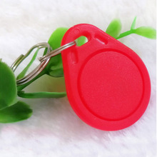 10pcs 13.56MHz IC M1 S50 Keyfobs Tags Access Control RFID Key Finder Card Token Attendance Management Keychain ABS Waterproof
