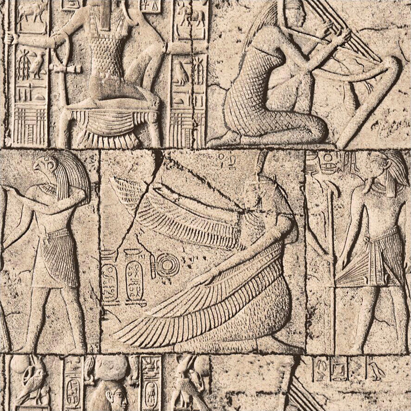 3D human body engraving Vintage <font><b>Egyptian</b></font> <font><b>wallpaper</b></font> Culture Stone Mural theme hotel video game room wall decoration <font><b>Wallpaper</b></font> image