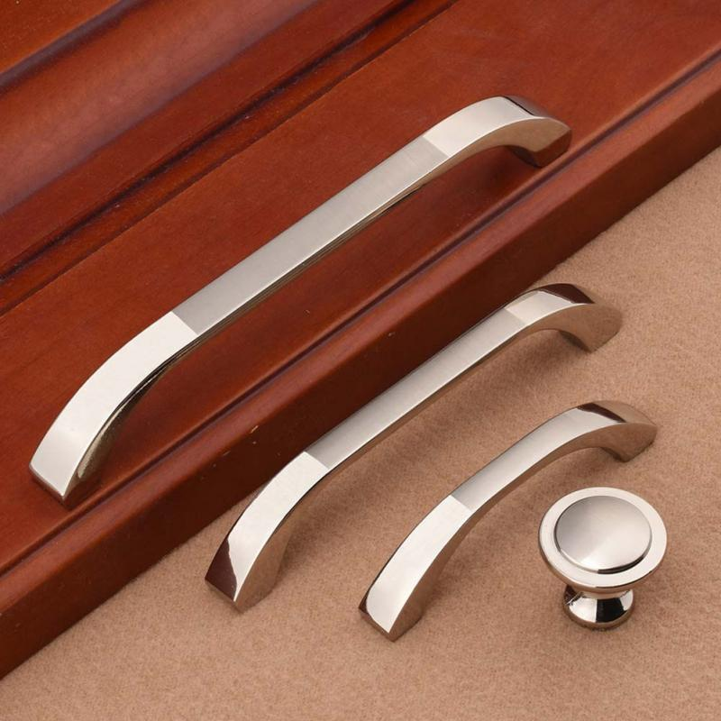 Fashion shape Zinc alloy Furniture pull handle Morden family Cabinet Lockers Closet Drawer Handles Pulls high quality