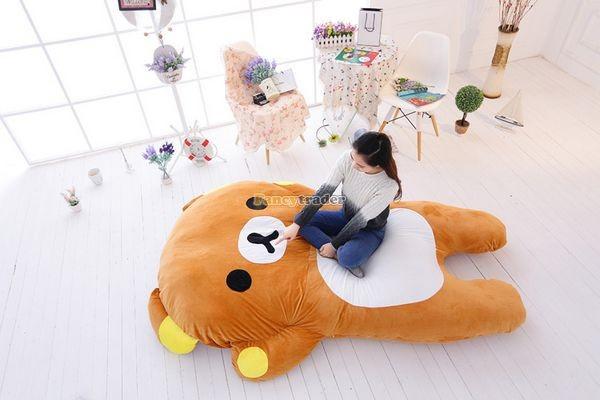Fancytrader   200cm X 150cm Giant Huge Soft Cute Rilakkuma Double Bed Carpet Tatami Mattess Sofa, FT50336 (9)