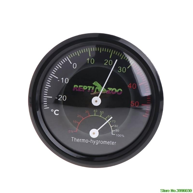 REPTI ZOO Reptile Terrarium Thermometer Hygrometer,Dial