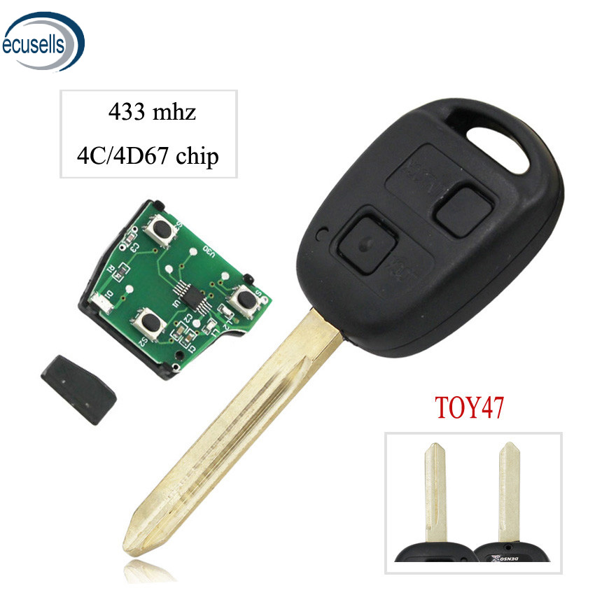 2014-2017 Toyota Corolla 4-Button Car Key Remote Keyless Entry for HYQ12BDM YITAMOTOR Key Fob with H Chip Compatible for 2015-2017 Toyota Camry