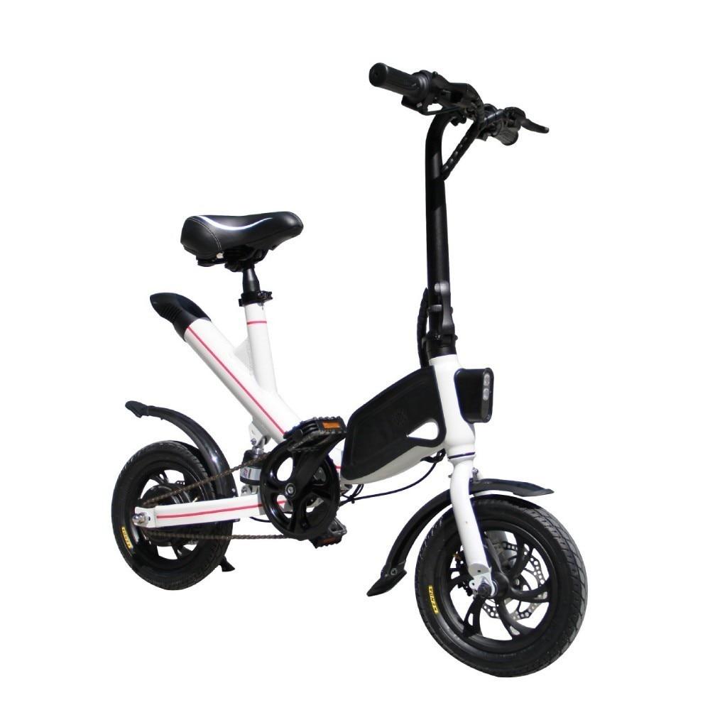 LOVELION Adult Portable Mini foldable electric bike Driving Bicycle convenient folding Small scale ebike Black Battery bikes