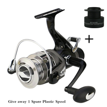 High Quality Smooth Spinning Carp Fishing Reel,left /right handle metal spool,9+1BB,rear tug,1 spare plastic spool Free Shipping