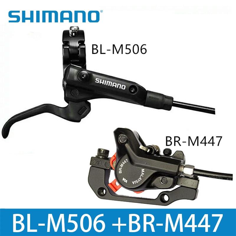 SHIMANO M506 + M447 vtt vélo hydraulique frein à disque Set pince montagne pour frein vélo frein à disque et feuille de frein vis