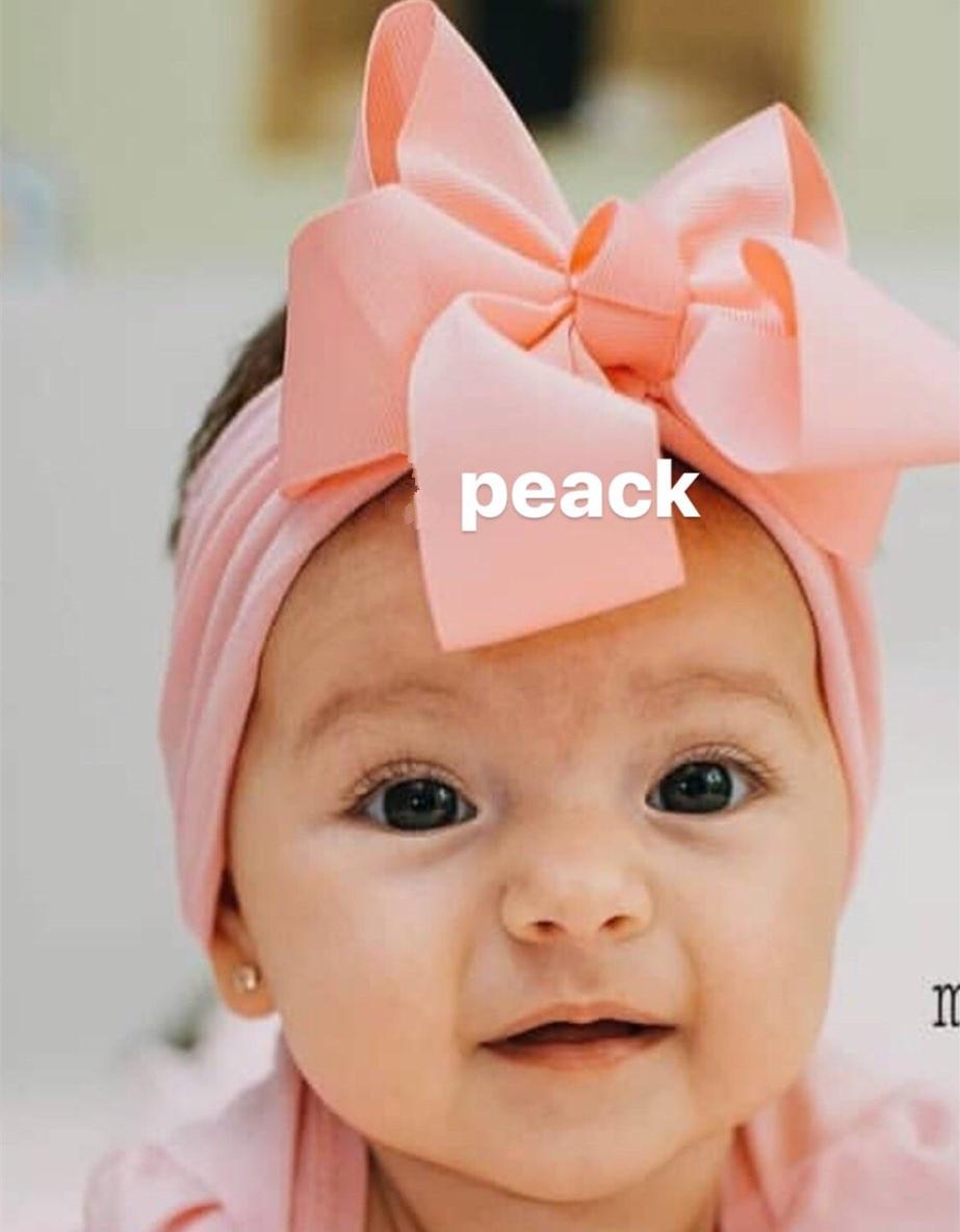 Newborn Nylon Baby Headband Toddler Infant Bow Hairband Baby Headband Turban Bow Headband Hair AccessoryNewborn Nylon Baby Headband Toddler Infant Bow Hairband Baby Headband Turban Bow Headband Hair Accessory