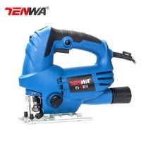 Tenwa 220V Woodworking Electric Jigsaw Metallic Board Multifunctional Chainsaw Handheld Mini For Work High Speed Chainsaw