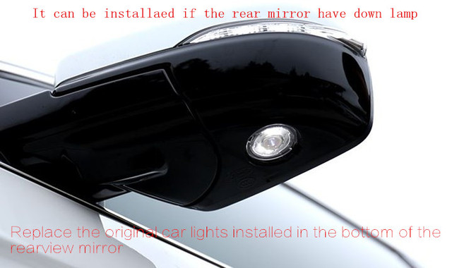 Car Styling 2 Pcs Mirror Door Welcome Led Ghost Shadow