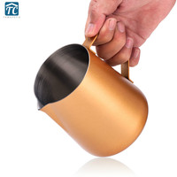1000ml Pull Flower Cylinder Tip nosed Stainless Steel Coffee Cup Machine Matching Fancy Milk Cups Mocha Pitcher Cappuccino