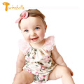 TWINSBELLA Summer Baby Girl Floral Romper 2017 Cute Infant Lace Flower Jumpsuit Baby Girl Cotton One Piece Clothes