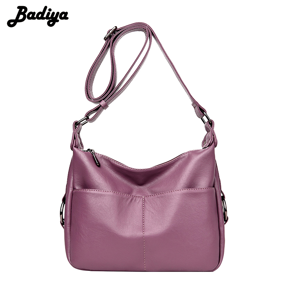 New Arrival PU Leather Solid Ladies Crossbody Bags Multifunction Casual Women's Shoulder Bag European Style Female Handbag