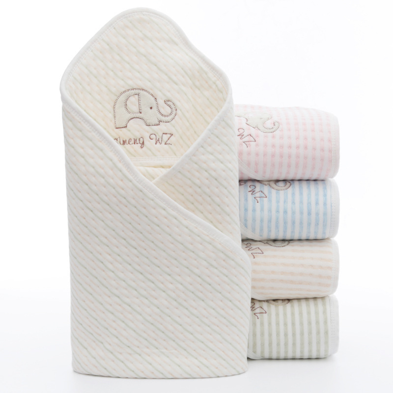 Summer Baby Blanket Infant Bebe Muslin Cotton Breathable Envelop Swaddle For Newborn Baby Hooded Sleepsack Parisarc Blankets in Blanket Swaddling from Mother Kids