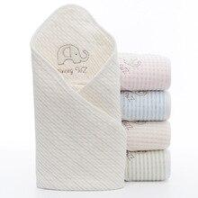 Summer Baby Blanket Infant Bebe Muslin Cotton Breathable Envelop Swaddle For Newborn Baby Hooded Sleepsack Parisarc Blankets недорого