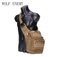 Luar taktikal tentera sling sukan perjalanan dada beg beg bahu untuk lelaki wanita crossbody beg kembara perkhemahan peralatan