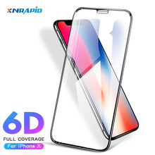 6D Full Cover Edge Tempered Glass For iPhone X XS XR Screen Protector for 8 6 6S 7 Plus Protection Film 9H