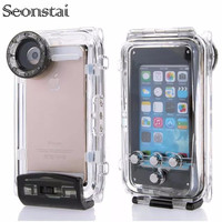 Seonstai Waterproof Case for iPhone 5s Underwater Phone Cover 40m Swimming Dive Photo Housing Shell Cases for iPhone5 SE 6S Plus