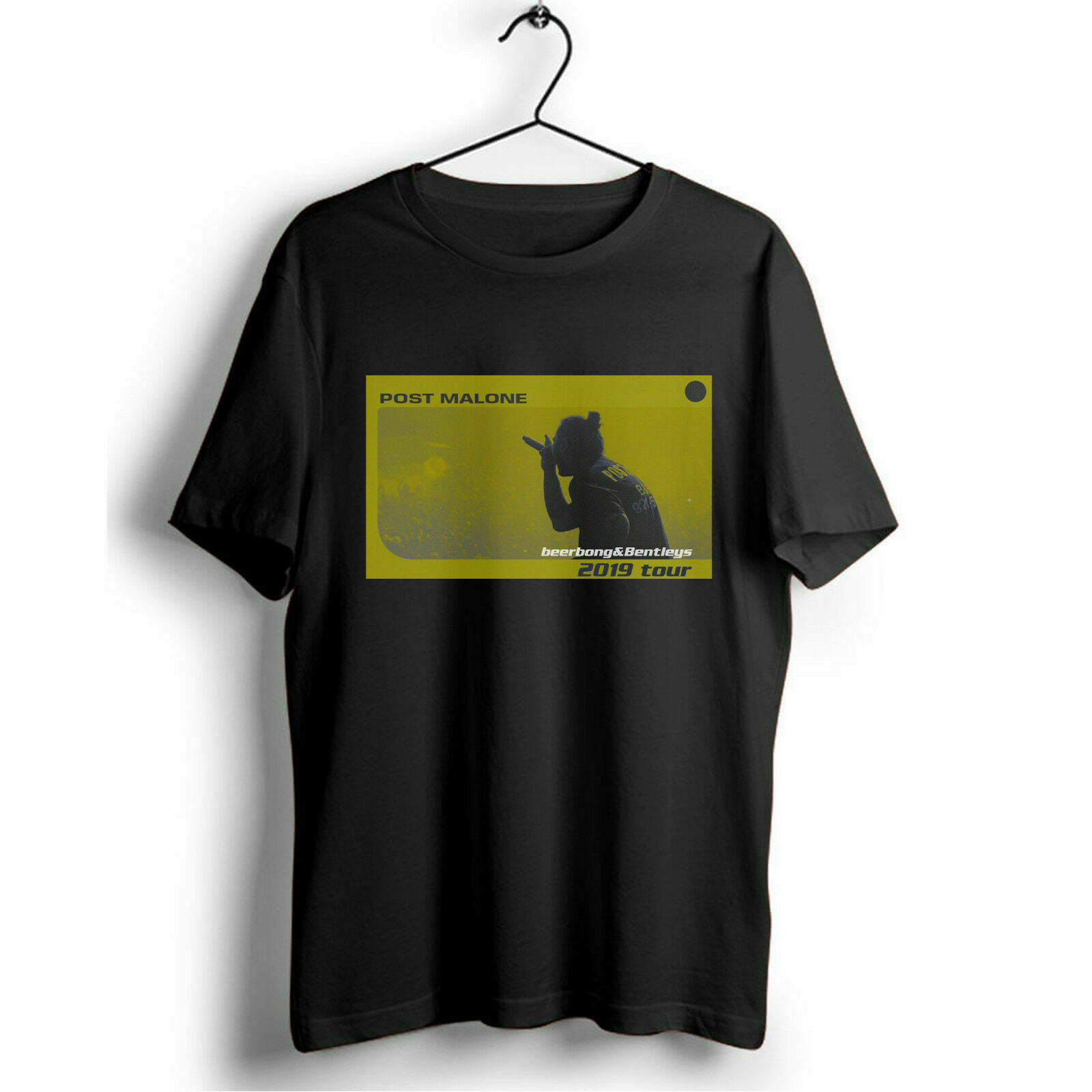 08be48830d6b POST MALONE Beerbongs y Bentleys 2019 Tour Hip Hop Rap Camiseta de manga  corta de algodón tee top - a.dupa.me