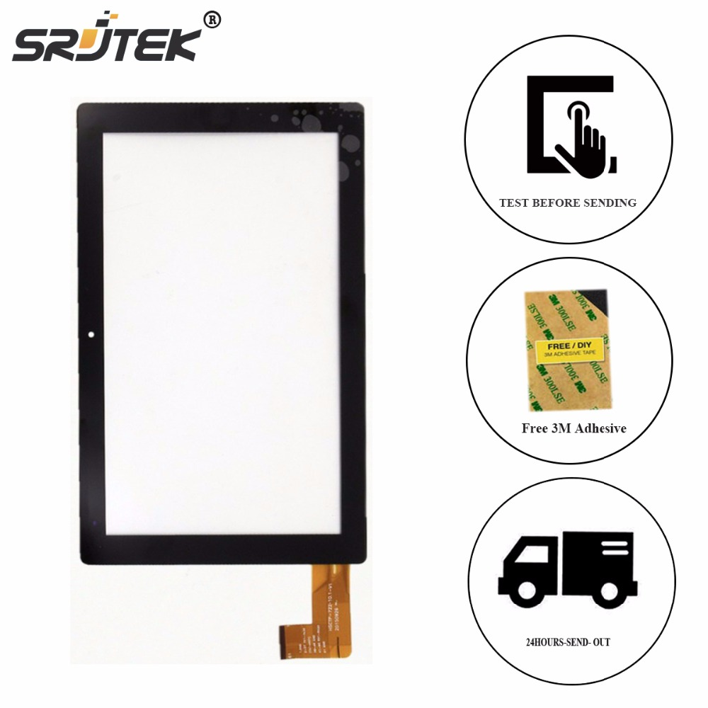 Srjtek New 10.1 Inch Touch Screen For Chuwi Hi10 CW1515 HSCTP-747-10.1-V0 Digitizer Panel Replacement Glass Sensor Black for sq pg1033 fpc a1 dj 10 1 inch new touch screen panel digitizer sensor repair replacement parts free shipping