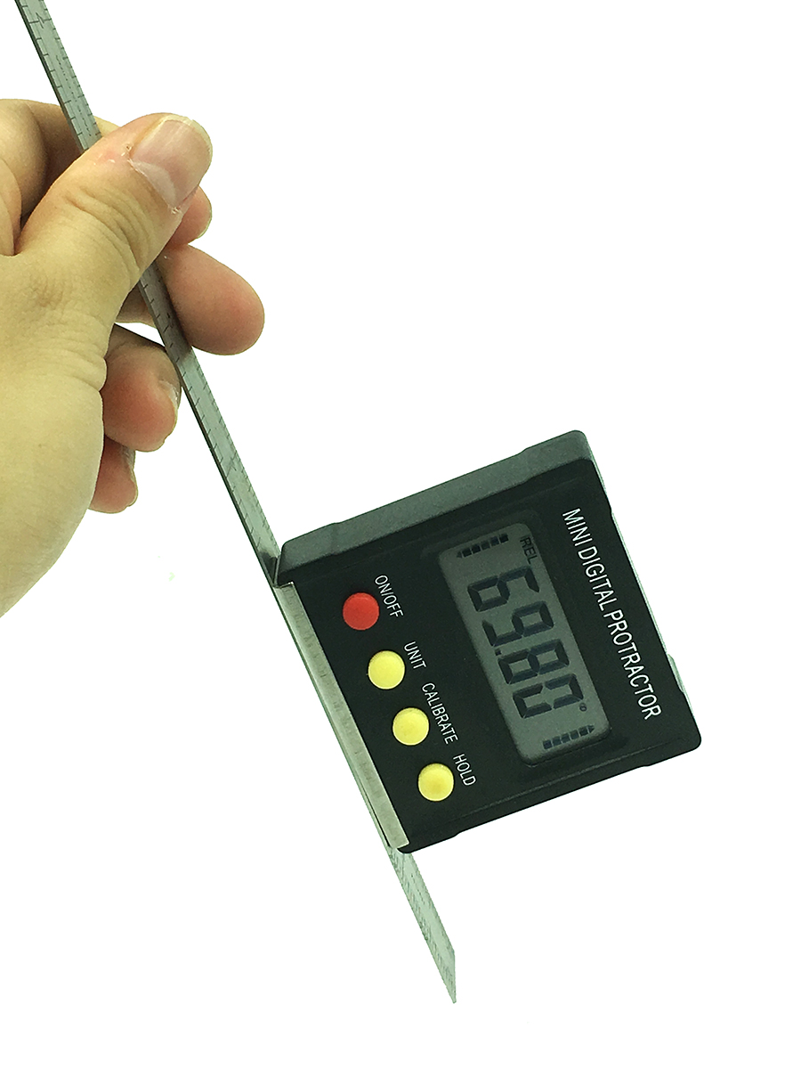 cheapest Digital angle finder Protractor electronic level box 360 Degree digital inclinometer angle measuring tool with magnets Portable