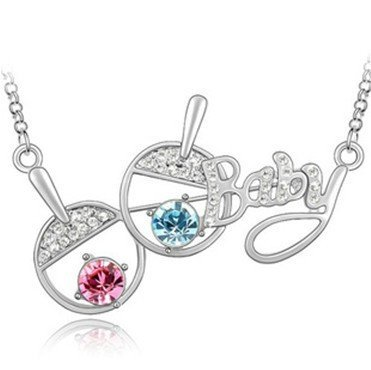 Fashion Creative Full Drill Table Tennis Shoot Type Crystal Necklace,Outstanding Quality,Free Shipping,Promotion