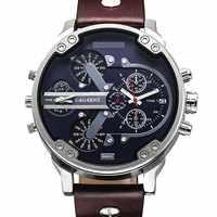 Reloj de pulsera de cuarzo de marca de lujo para hombre, reloj deportivo de doble movimiento, reloj Casual para hombre, reloj de reloj para hombre