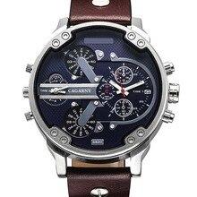 Luxury Brand Men Quartz Wrist Watch Dual Movement Sports Watch CAGARNY Man Casual Watches Relogio Male Relojes Clock Men