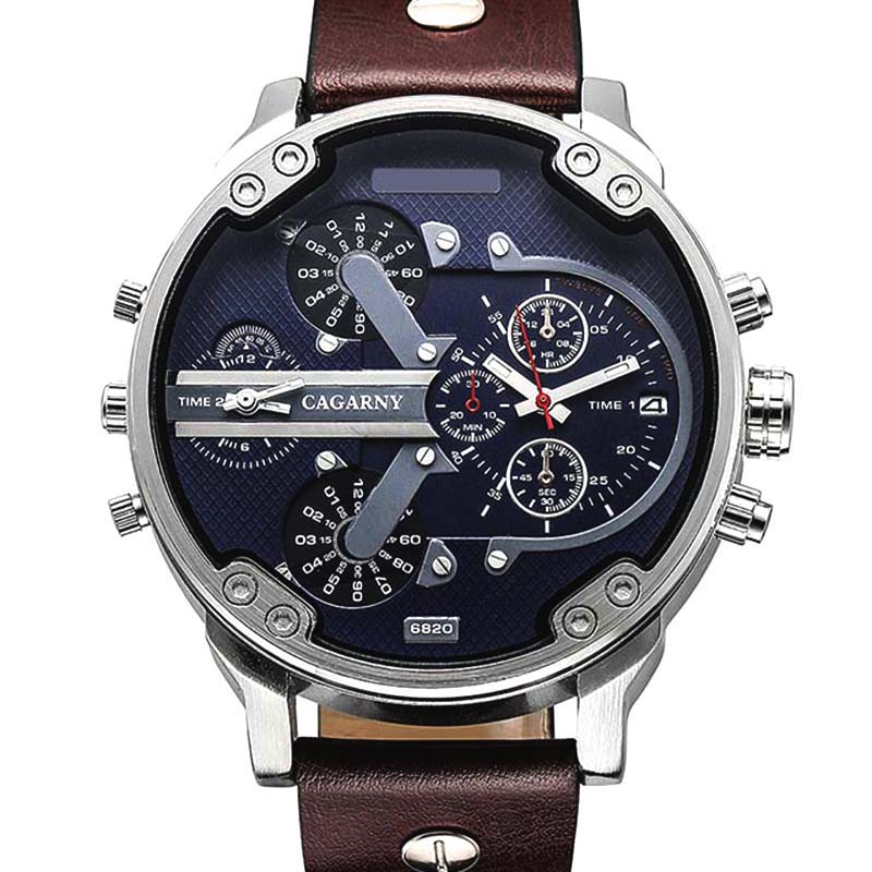 Luxury Brand Men Quartz Wrist Watch Dual Movement Sports