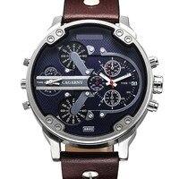 Luxus Marke Männer Quarz Armbanduhr Dual Bewegung Sport Uhr CAGARNY Mann Casual Uhren Relogio Männlichen Uhren Uhr Männer-in Quarz-Uhren aus Uhren bei
