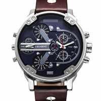 Marque de luxe hommes montre-bracelet à Quartz double mouvement montre de sport CAGARNY homme décontracté Relogio mâle Relojes horloge hommes