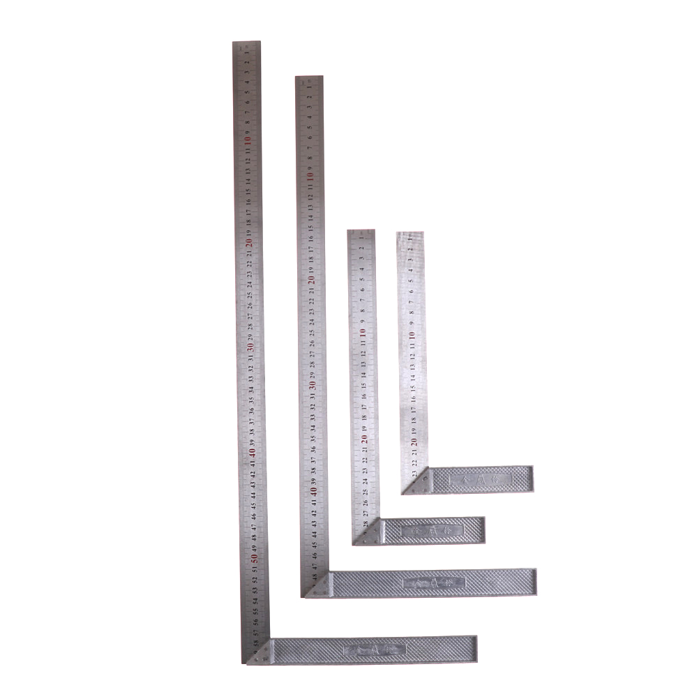 Ruler Measuring Tool Stainless Steel Metal Straight Ruler Ruler Tool 90 Degree Angle Metric Try Mitre Square 25cm/30cm/50cm