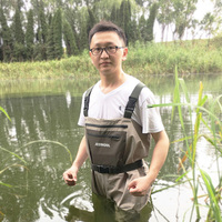 JEERKOOL Fly Fishing Clothes Waders Clothing Portable Chest Overalls Waterproof Wading Hunting Pants Stocking Foot For Fish Shoe