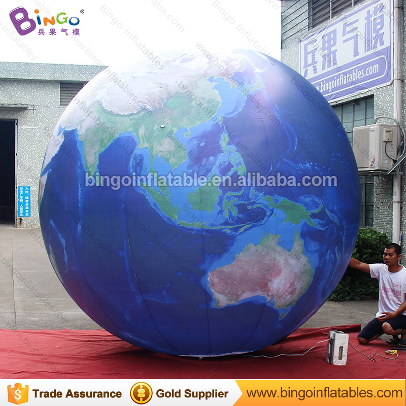 Free delivery LED lighting inflatable globe balloon for decoration customized inflatable Earth ball toy earth for exhibition giant inflatable balloon for decoration and advertisements