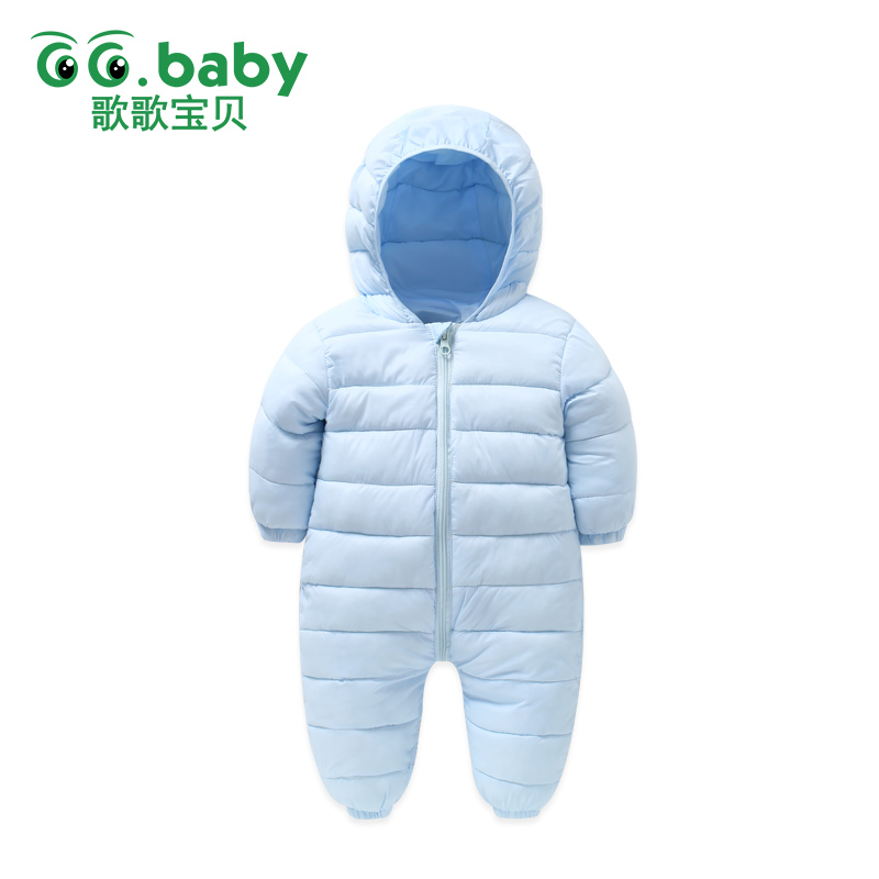 Hooded Winter Baby Boys Clothes Christmas Overalls For Babies Newborn Girls Rompers Baby Clothing Thick Coveralls Snow Jumpsuits
