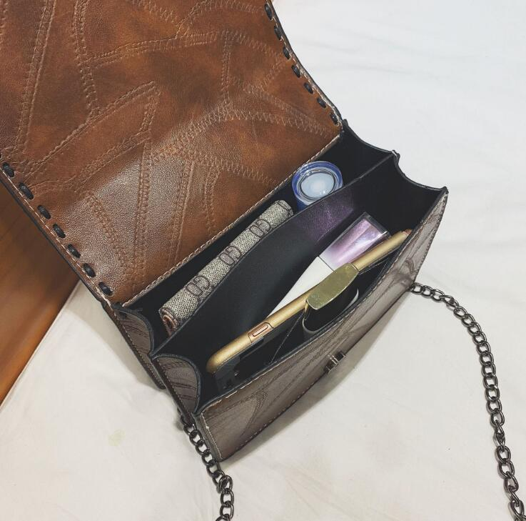 Donne Di Bag 201 Messenger Sacchetto blue Femminile Del Catena Brown Retro Crossbody Flap black Tracolla Filo Delle Cintura red H44zwY
