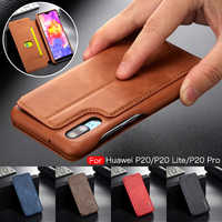 Luxury Retro Leather Case for Huawei P20 Pro Lite Flip Wallet Card Holder Phone Cover for iPhone XS Max XR X 8 7 6 6S Plus Coque