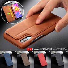 Luxury Retro Leather Case for Huawei P20 Pro Lite Flip Wallet Card Holder Phone Cover for iPhone XS Max XR X 8 7 6 6S Plus Coque цена