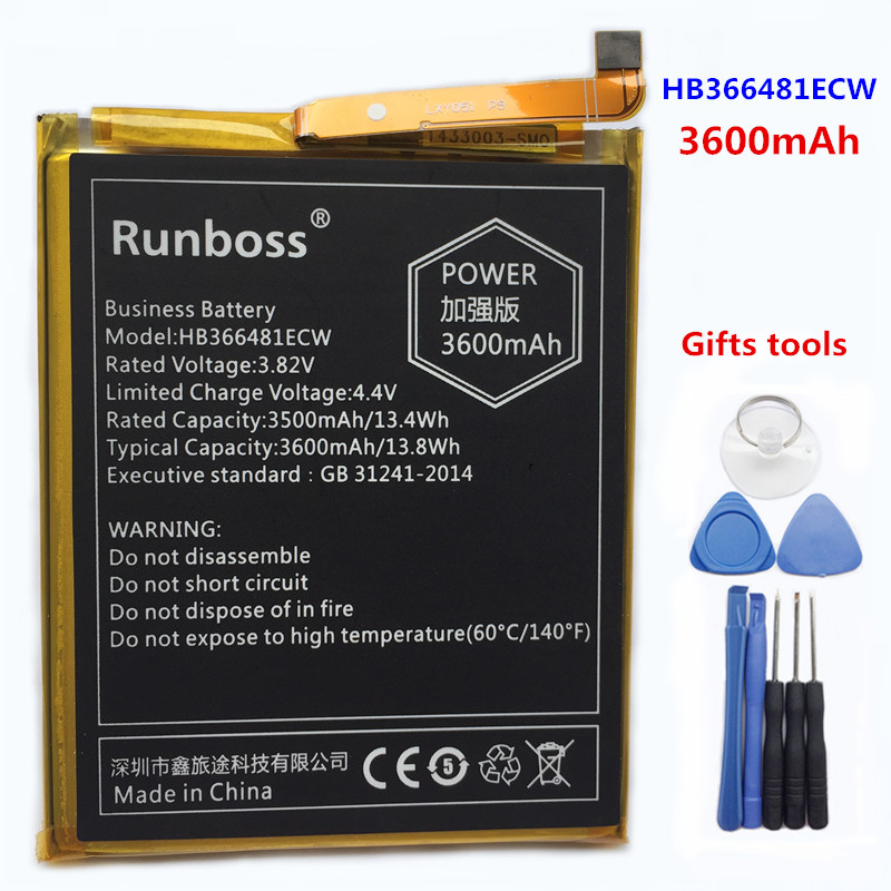 3600 mAh HB366481ECW Batterie Pour Huawei Honor 8 FRD-L19 FRD-L10 FRD-L09 FRD-AL00 FRD L19 L10 L09 AL00 P Smart FIG-LX1 FIG-LA1