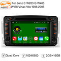 GreenYi 1024*600 Android 5.1.1 Car DVD Player for Mercedes W203 Benz W208 W209 W210 W463 Vito Viano GPS Quad Core 3G 4G
