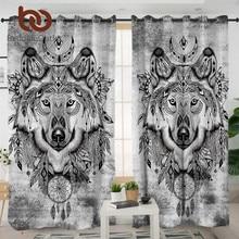 BeddingOutlet Tribal Wolf Living Room Curtains Dreamcatcher