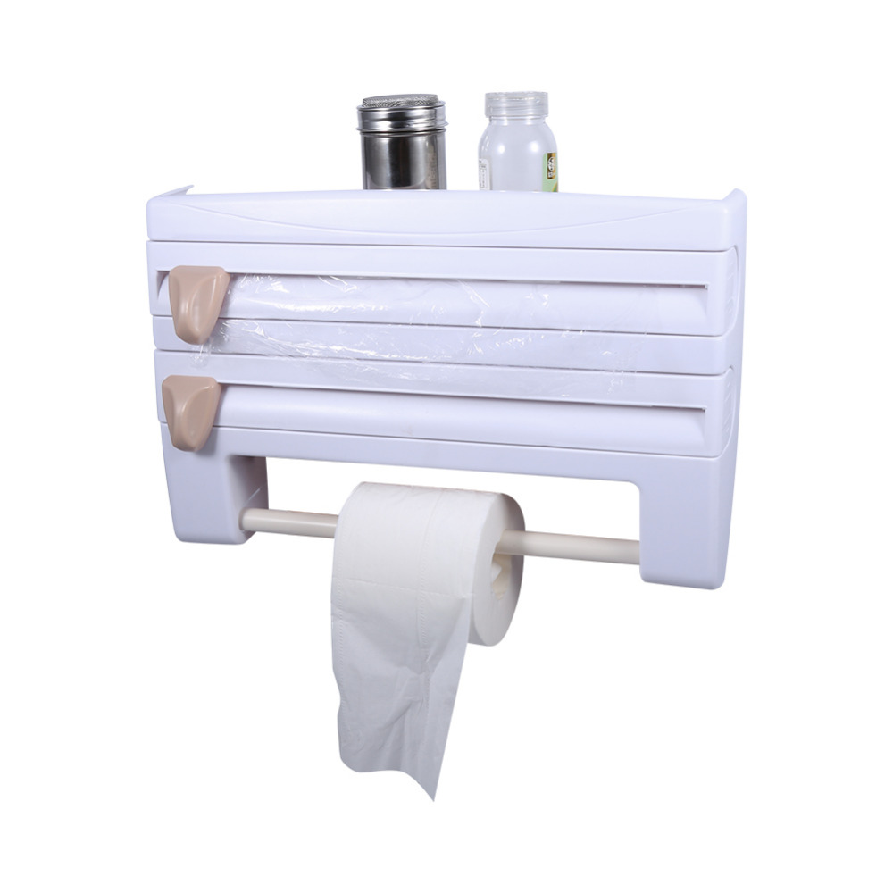 Towel holders for bathrooms wall - Double Layer Paper Towel Toilet Holder Bathroom Toilet Roll Holder Wall Hanging Paper Towel Holder Khaki