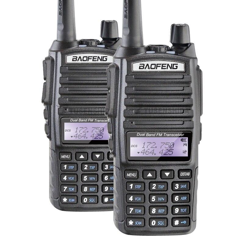 imágenes para 100% baofeng fábrica autorizada a estrenar promoción 2 unids/lote baofeng uv-82 de doble banda 5 w walkie talkie