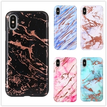 7 Plus Phone Case on for iPhone X Colorful Marble Luxury Back Cover Coque iPhone7 6 6S 8 7+ Carcasa Funda