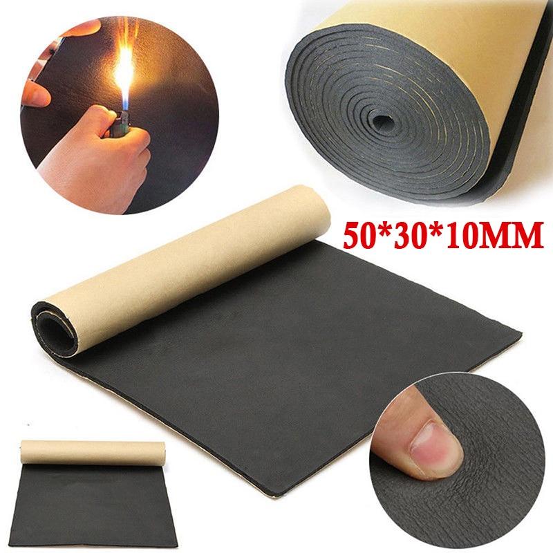 30*50 см 10 мм Автомобильная звукоизоляция, поролоновая прокладка, звукоизоляция, авто шумоподавитель, изоляция, теплоизолятор